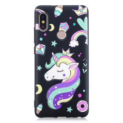 Leuke Unicorn Pattern TPU Relief Case voor Xiaomi Redmi Note 5 Pro