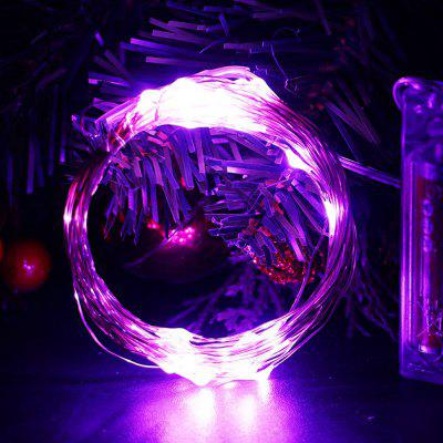 LED String Light Waterproof 5m 50 LED Lampa z drutu miedzianego Outdoor Garden Christmas