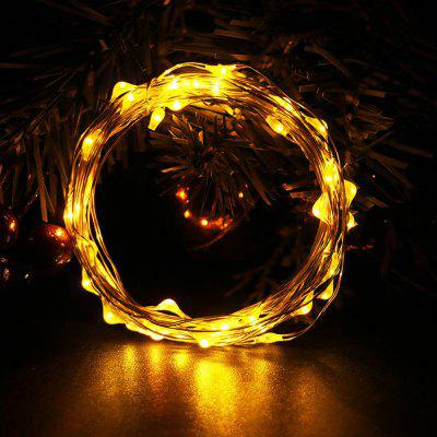 Rezistent la lumina LED String Light 10m 100LED Copper Sârmă Lamp Outdoor Garden Crăciun