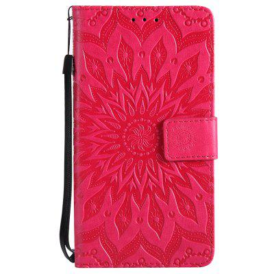 Flip Case pro Xiaomi Redmi Poznámka 5A Embossing Sunflower Leather Wallet Cover