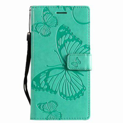 Embossing Butterfly PU Leather Case For Xiaomi Mi 8 Stand Wallet Cover