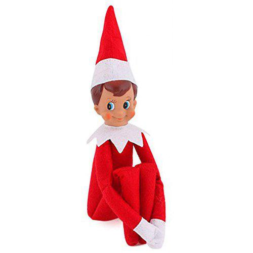 Christmas Elf Gift Decoration for House Red Boy Plush Doll Toy