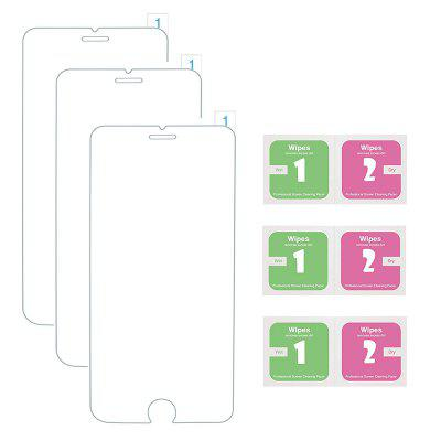 3 films de protection d'écran en verre trempé pour iPhone 6 Plus / 7 Plus / 8 Plus