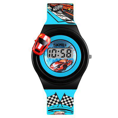 SKMEI Children Car Cartoon For Boys Girls Electronic LCD Digital Wrist Watches