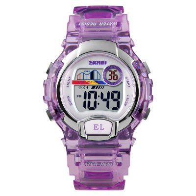 SKMEI Sports Children Alarm Clock Stopwatch Timing LED Luminous Digital Watch