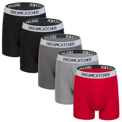 5PS All Cotton Comfortable Boxer Underpants Briefs for Men