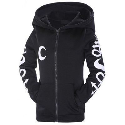 A Black Hoodie with A Moon Pattern