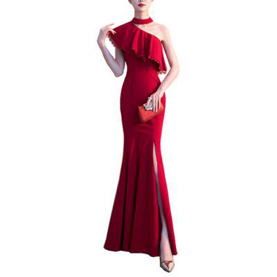 Ladies Evening Party Dress Banquet Sexy Slim Fit Dress