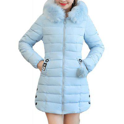 Plus Size Winter Coat Women Fake Fur Collar Warm Woman Parka