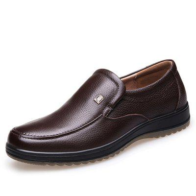 Middle-Aged and Old True Leather Shoes Dad Shoes That Tidal Autumn Goosegrass Bo