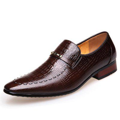 Men'S Shoes Business Dress Shoes Male Fish Grain Leather Tines of Qiu Dong