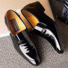 Autumn Men Business Suits Leather Shoes Single Shoes Pointed Marriage of England - BLACK