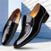 Autumn Dress Shoes Leather Wingtip Shoes in England Business Patent Leather Shoe - BLACK