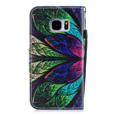 Peacock Hair Protection Leather Case Flip Phone Case for Samsung S 7
