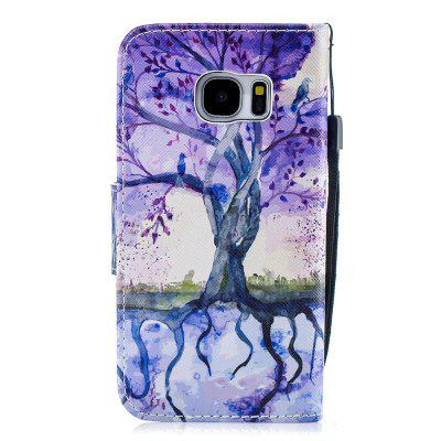Purple Tree Protective Leather Case Flip Phone Case for Samsung S 7
