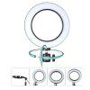 8 inch Selfie Ring Light USB Charge YouTube Video/Photography Live Stream Makeup - BLACK