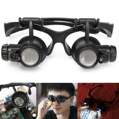 1PCS YWXLight Magnifying Glass Eye Jewelry Watch Repair Magnifier Glasses With