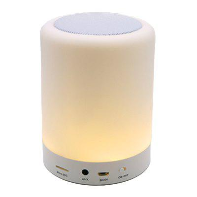 Bluetooth Portable Speaker with LED Night Light Lamp Support TF for Kids