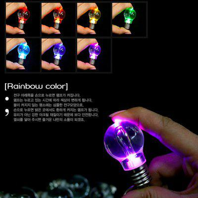 5PCS Color Changing LED Flashlight Light Bulb Keychain Lamp Torch