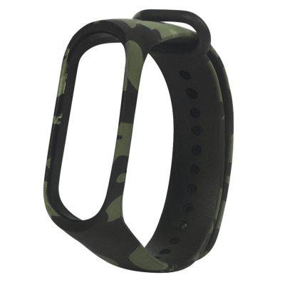 Camouflage Rubber Strap Wristband for Xiaomi Mi Band 3