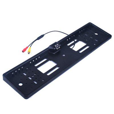 ZIQIAO Waterproof European License Plate Frame Rear View Camera