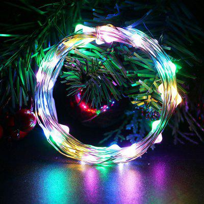 Waterproof LED String Light 5m 50 LED Copper Wire Lamp Outdoor Garden Christmas