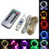 Waterproof LED String Light 5m 50 LED Copper Wire Lamp Outdoor Garden Christmas - PURPLE