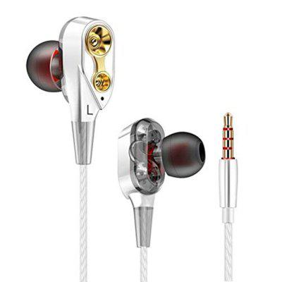 LieDao Quad-Core In-Ear Double-Motion Headphones Running Game Music Headphone