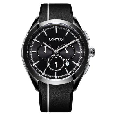 Comtex Men Fashion Sport Waterproof with Silicone Band Wristwatch