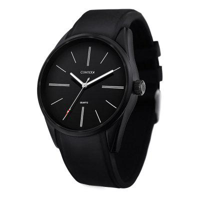 Comtex SYM140033 Men Fashion Sports Silicone Strap Wrist Quartz Watch