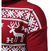 Men's Fashion Casual Print Slim Long-sleeved Sports Hoodie - VERMELHO