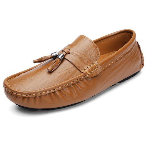 Large Size Men Set of Flat Feet Comfortable and Comfortable Driving Peas  Shoes 7a8740860a0