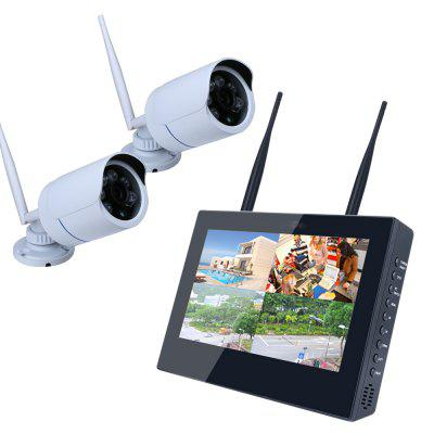 10 inch 2CH 960P  HD Wireless DVR Video Security System (NVR Kits)