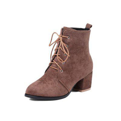 Autumn and Winter with Ankle Boots Front with Thick Heel Fashion Women'S Boots