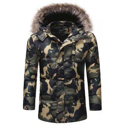 Men'S Fashion Thickened Down Cotton Camouflage Casual Cotton Coat