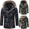 Men'S Fashion Thickened Down Cotton Camouflage Casual Cotton Coat - BLACK