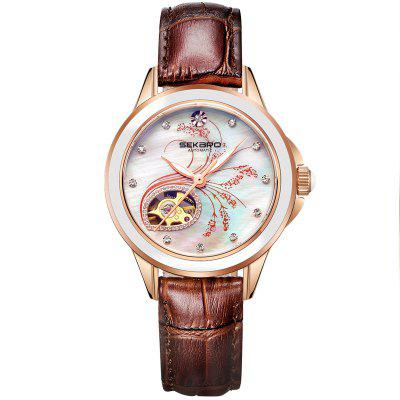 Sekaro 2835 Ceramic Lavender Design Mechanical  Flower Female Watches