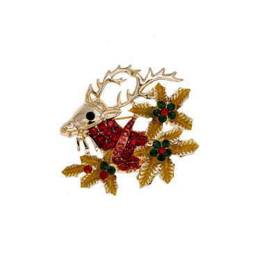 Beautiful Christmas Leaves Diamonds Brooches and Brooches.