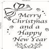 M-15 Christmas Series Merry Christmas Living Room Bedroom Window Wall Sticker - BLACK
