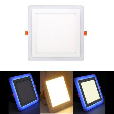 3W+3W Square LED Panel Light Embedded Downlight Indoor Ceiling Lamp AC100-240V