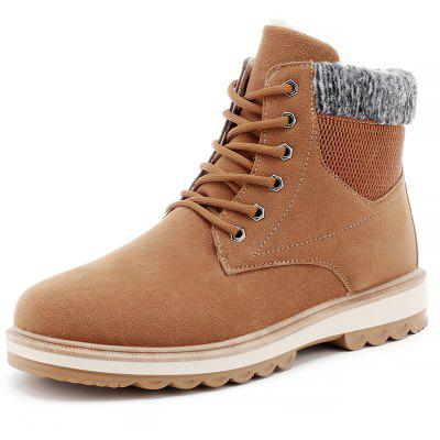 Men Outdoor Warm CottonSneakers High Top Winter Hiking Boots