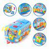 Baby Toys School Bus with Music Flashing Lights Electric Birthday Xmas Gift - MULTI