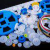 80Pcs Plastic DIY Robot Gear Kit Gearbox Motor Gear Set For DIY Car Robot - WHITE