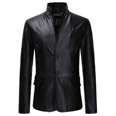 Men's Fashion Classic Two-button Casual Slim Collar Leather Suit