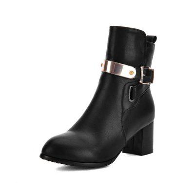 Autumn and Winter Thick with College Wind Boots Fashion Pointed Women'S Boots Si
