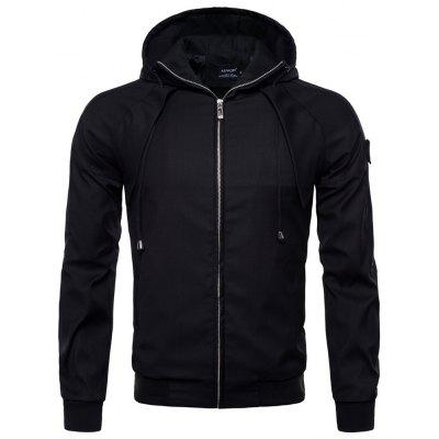 Autumn New Solid Color Jacket Hooded Jacket