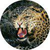 Non Slip Rubber Round  Anti-Water Gaming Leopard  Mouse Pad - MULTI