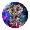 Non Slip Rubber Round  Anti-Water Gaming Colorful Elephant Mouse Pad - MULTI