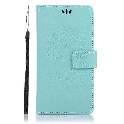 Owl Wallet Cover for Samsung Galaxy J4 2018 (EU Version) PU Flip Leather Case