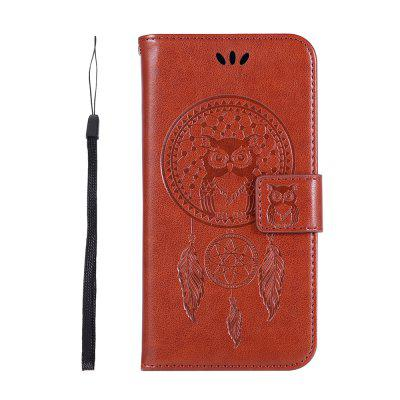 Owl Wind Chimes Wallet PU Flip Leather Cover for iphone XS Case